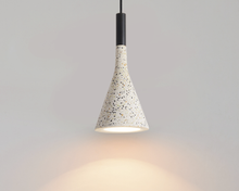 Load image into Gallery viewer, Modern Stylish Stone pendant light in geometric shape with black cord