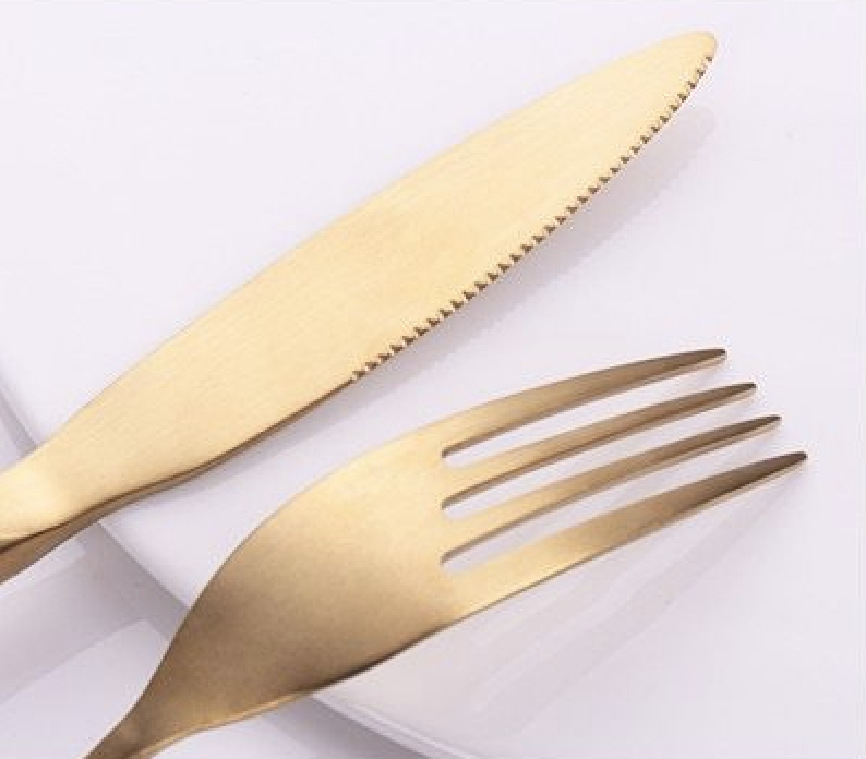 Gold Bamboo Stainless Steel Luxury Flatware
