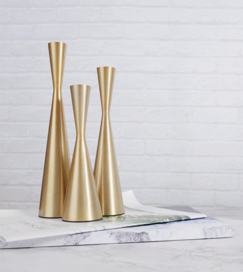 Brass Tower Retro Candle Holders