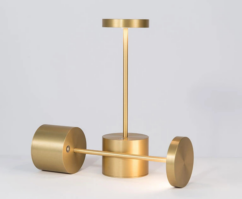 gold Table Lamp with Rechargeable USB Batteries restaurant
