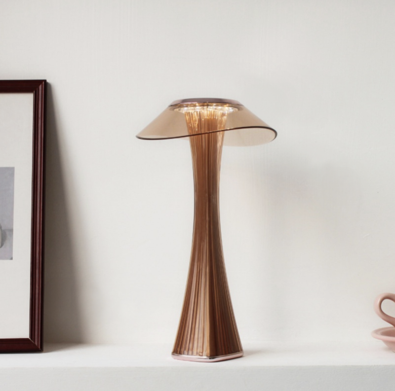 rose gold Smart Touch Table Lamp with USB Rechargeable Batteries