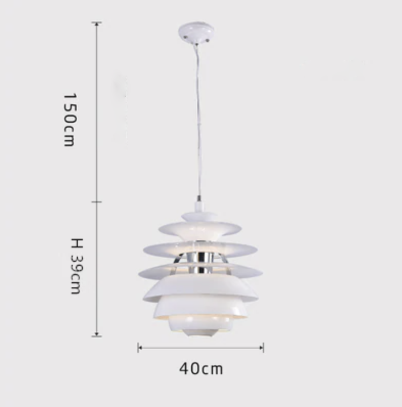 Retro Layered Aluminum Pendant Light