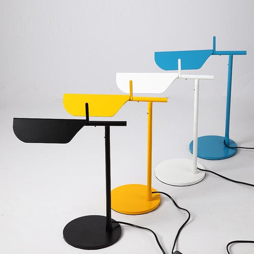 black yellow white and blue metallic Post Modern table lamps