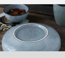 Load image into Gallery viewer, Blue Porcelain Wide Bowl plate