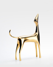 Load image into Gallery viewer, Modern Metal Gold Dog Statue for Office Home Decor or Study greyhound dachshund