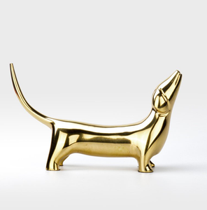Modern Metal Gold Dog Statue for Office Home Decor or Study greyhound dachshund