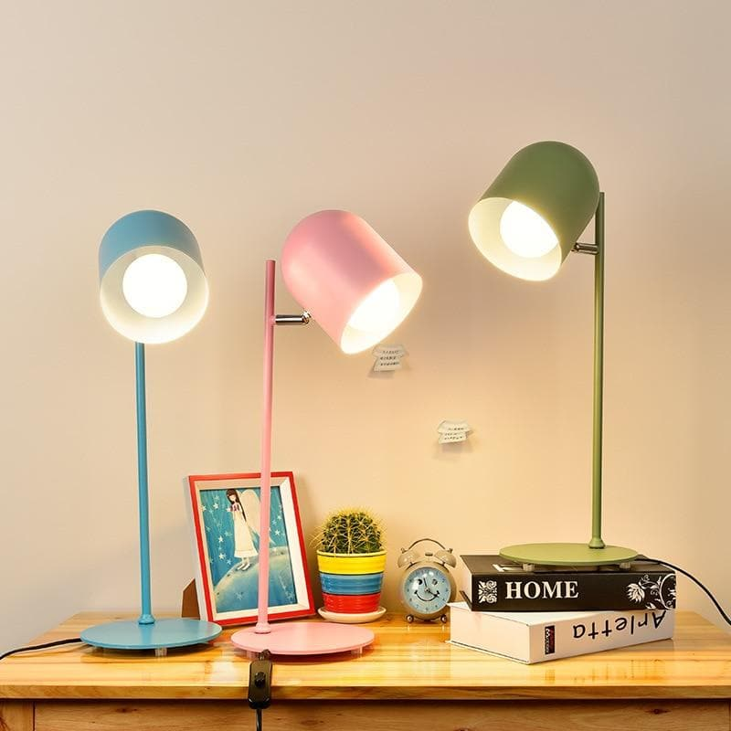Monochrome Colored metal table side lamps spotlight