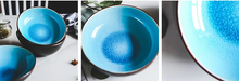 Load image into Gallery viewer, Blue crackle glaze bowl