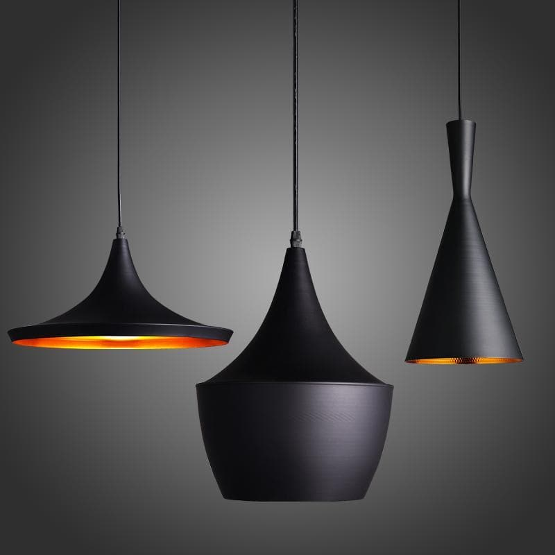 Post Modern Pendant light in Black Metal