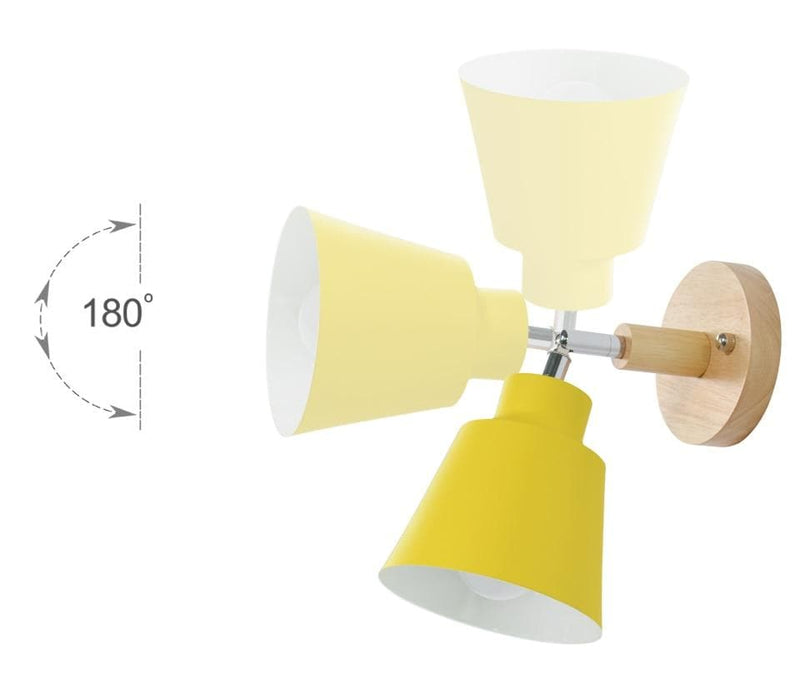 multi-directional rading wall sconce yellow