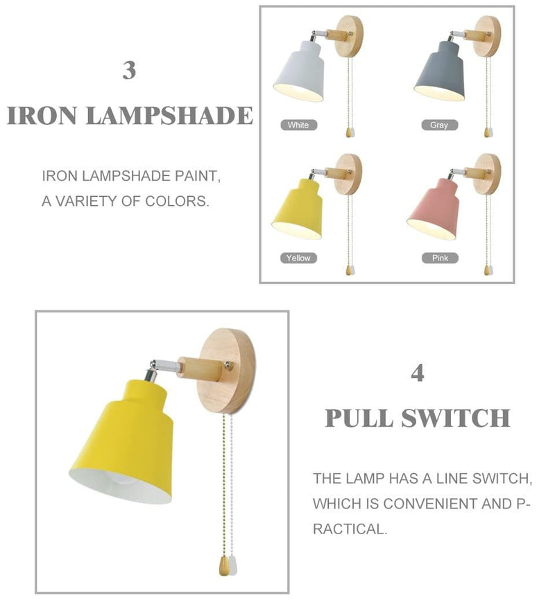 Rotating Collin Wall Sconce with Pull Chain Switch