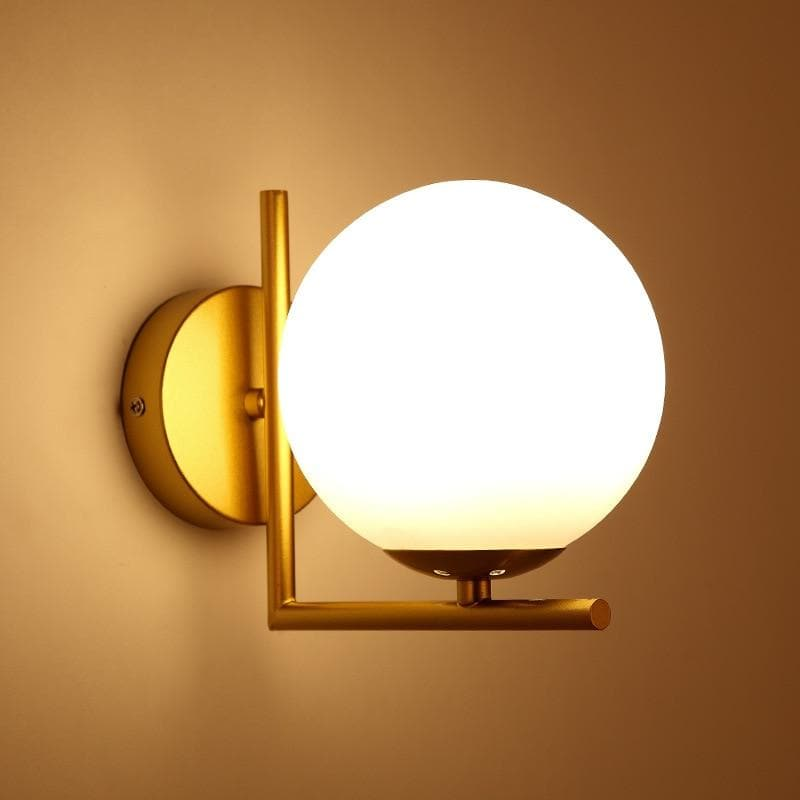 Gold Metal Wall Sconce Globe Shape with stand