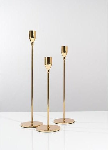 Vintage Gold Candle Holders