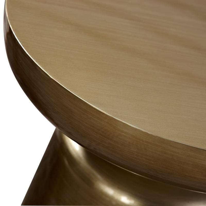 Stylish design colorful metal side table bronze gold copper
