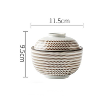 Load image into Gallery viewer, white and khaki ceramic big bowl with lid
