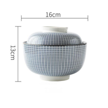 Load image into Gallery viewer, white and Blue ceramic big bowl with lid