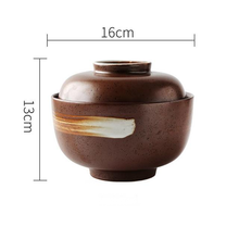 Load image into Gallery viewer, brown ceramic big bowl with lid