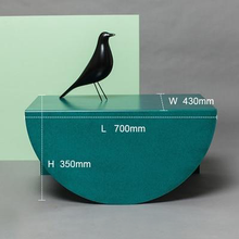 Load image into Gallery viewer, Design geometrical side tables with neutral pastel colors with black bird