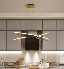 Load image into Gallery viewer, Modern Home Decor Pendant Light in Metal and LED bulbs Gold