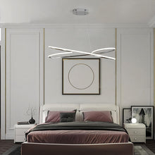Load image into Gallery viewer, Modern Home Decor Pendant Light in Metal and LED bulbs Chrome