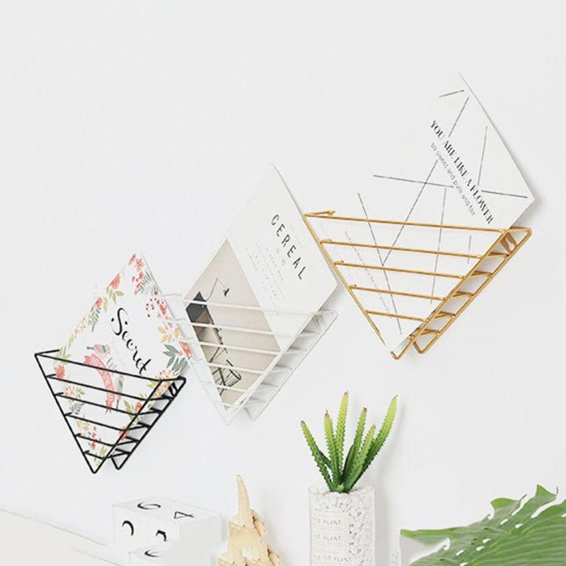 Minimalist Art Metal Storage for Magazines, Home Office, Living Room