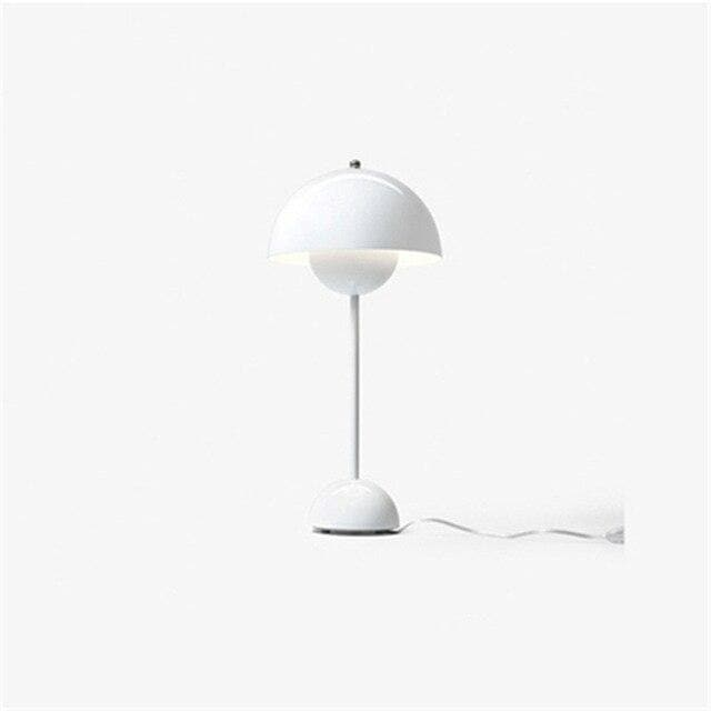 white Flowerpot Lacquered Metal Lamp