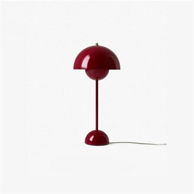 black Flowerpot Lacquered Metal Lamp