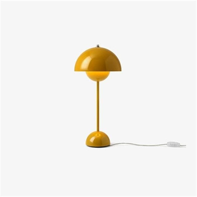 Yellow Flowerpot Lacquered Metal Lamp