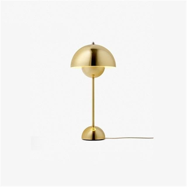 gold Flowerpot Lacquered Metal Lamp
