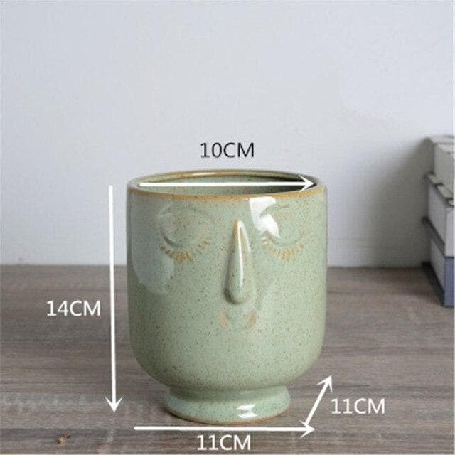 Boho Ceramic Porcelain Planter for Home Garden Decor and Kitchen