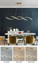 Load image into Gallery viewer, Modern Art Wavy Pendant light in Metal and LED Bulbs Chrome