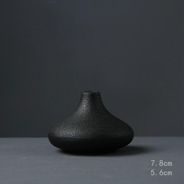 Black Textured Ceramic for Modern Home Decor and Office