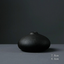 Load image into Gallery viewer, Black Textured Ceramic for Modern Home Decor and Office