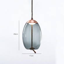 Load image into Gallery viewer, Brokis Knot Modern Tinted Glass Bubble light with Metal and LED Bulbs Blue