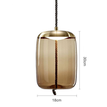 Load image into Gallery viewer, Brokis Knot Modern Tinted Glass Bubble light with Metal and LED Bulbs brown