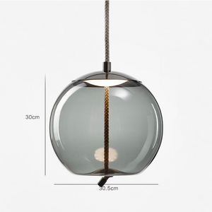 Brokis Knot Modern Tinted Glass Bubble light with Metal and LED Bulbs Grey