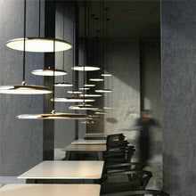 Load image into Gallery viewer, Retro Minimalist Metal Disc Pendant Light with LED Bulbs white