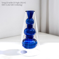Modern Minimalist Glass Vase for Home and Room Decor Blue