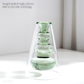 Modern Minimalist Glass Vase for Home and Room Decor Green