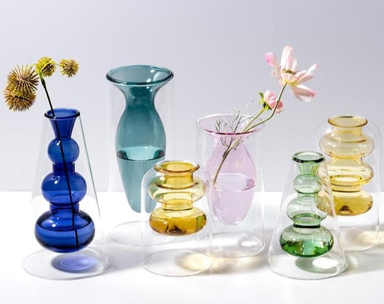 Modern Minimalist Glass Vase for Home and Room Decor