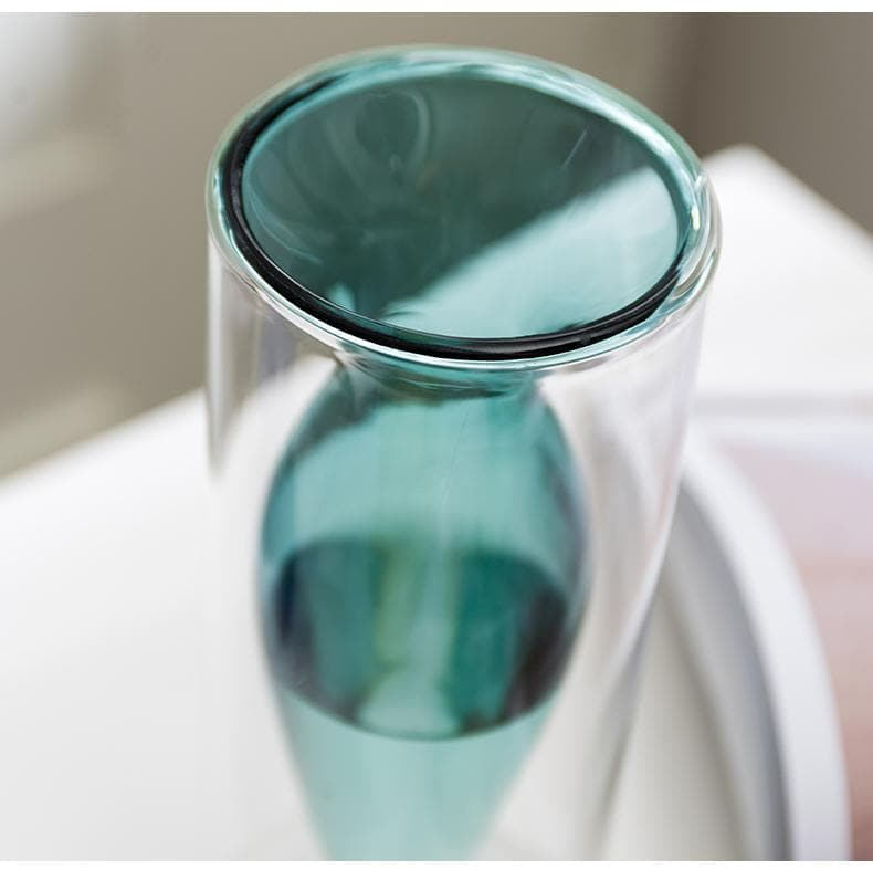 Modern Minimalist Glass Vase for Home and Room Decor Teal