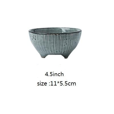 Japanese Porcelain Bowls for Modern Kitchen and Home Decor blue gray