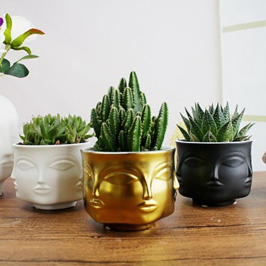 Adler Inspired Boho Ceramic Planters for Home Garden & Decor