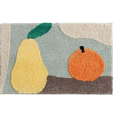 Load image into Gallery viewer, Abstract Art and Colorful Fruit Bath Mats for Modern Room and Home Decor