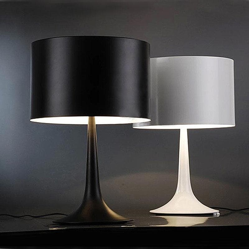 Black and white Cylinder Table Lamp