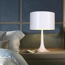 Load image into Gallery viewer, white Cylinder Table Lamp