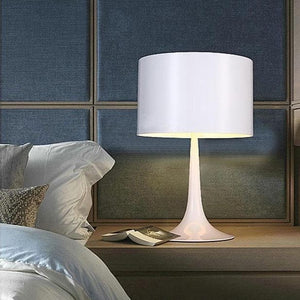 white Cylinder Table Lamp