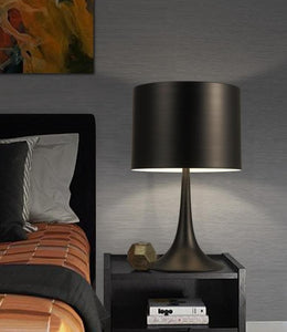 Black Cylinder Table Lamp
