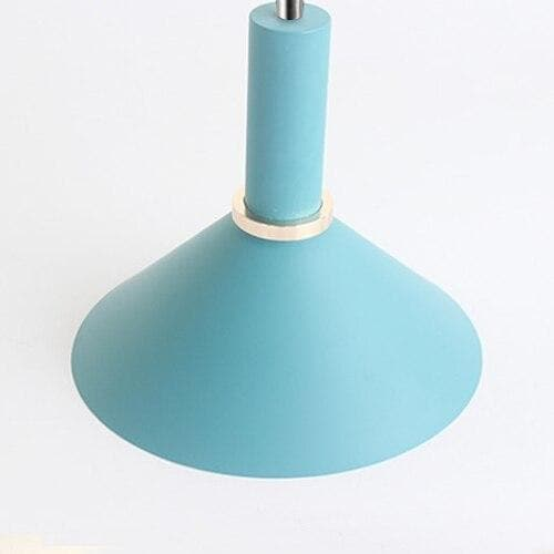 Matte cone Light blue metal Modern geometrical neutral pastel color pendant lamp