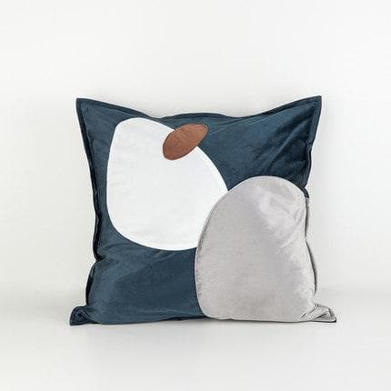 Trendy Abstract Ovals Cushion Covers Online Florida in Suede Microfiber and Velvet NEutral Blue Grey